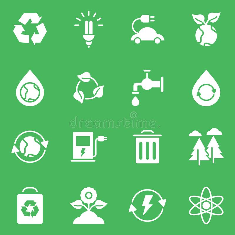 Simple Set of Eco Related Vector Line Icons stock illustration