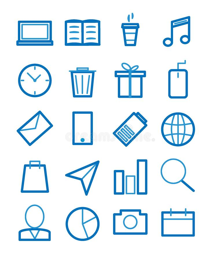 Simple Set of Related Vector Line Icons vector illustration