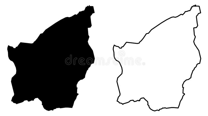 Simple only sharp corners map -Republic of San Marino vector d stock illustration