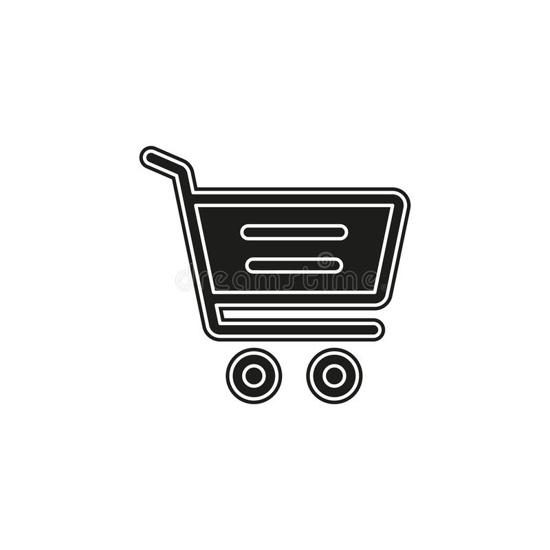 Simple Shopping Cart Vector Icon royalty free illustration