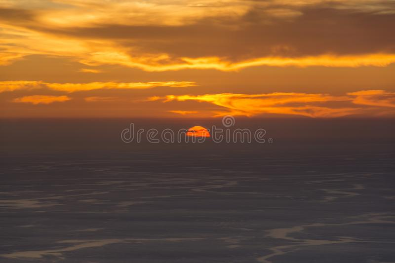 Simple shot of a beautiful sunset at Corfu Greece.  royalty free stock photos