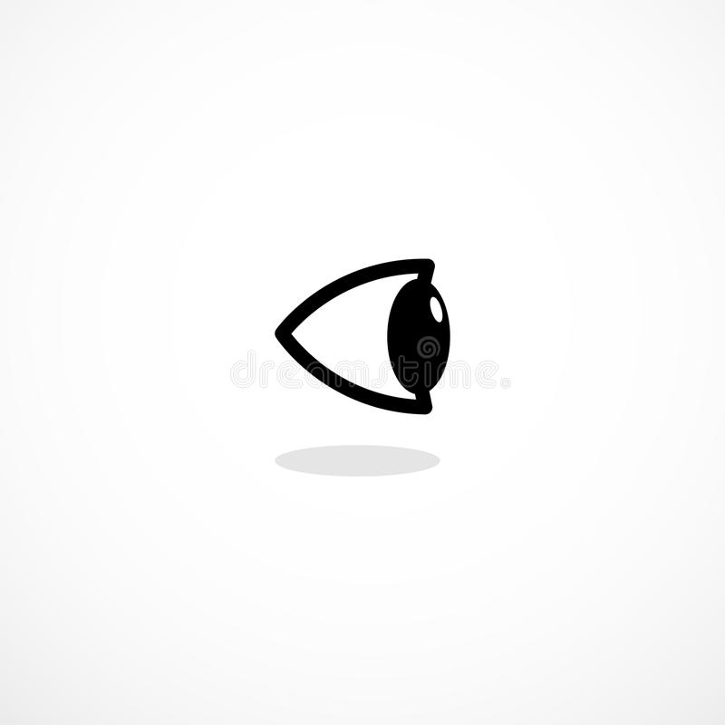 Simple side eye icon. Isllustration isolated on background stock illustration