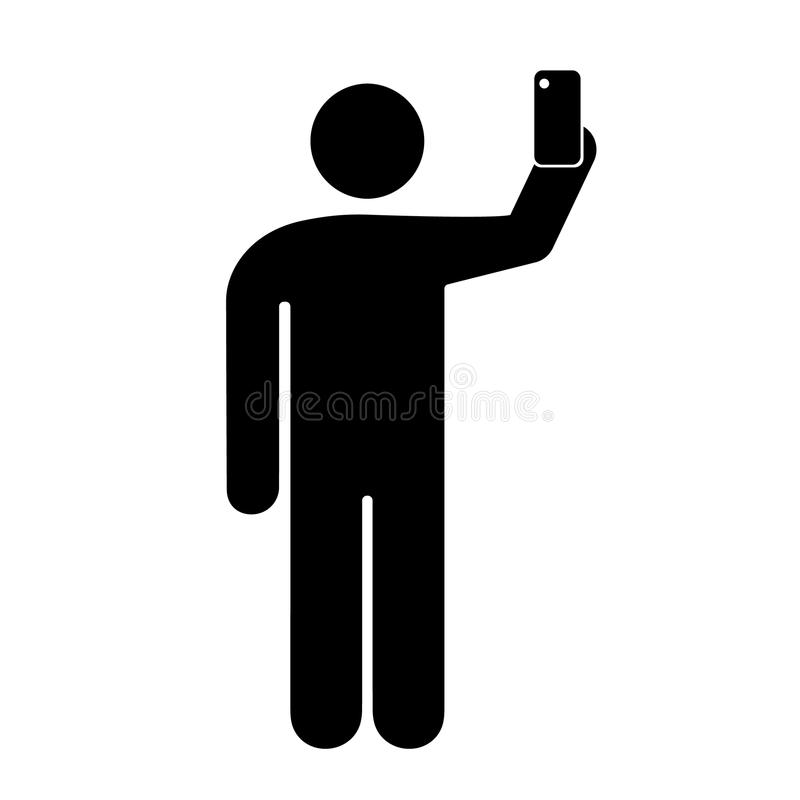 Sign of a person taking a selfie vector illustration
