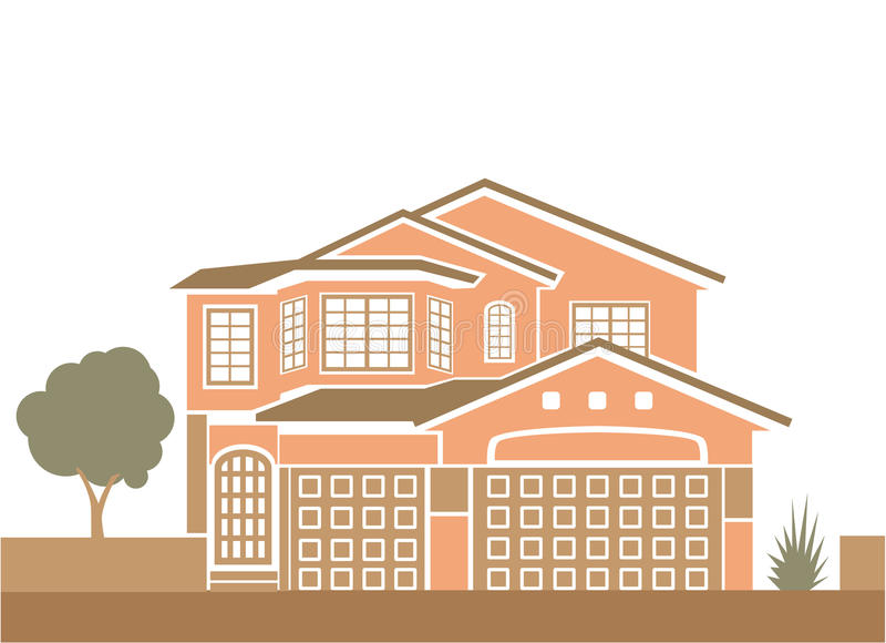 Simple single family home. Vector vector illustration