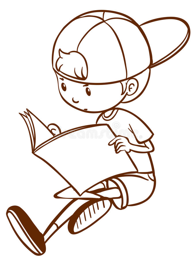how to draw a person reading