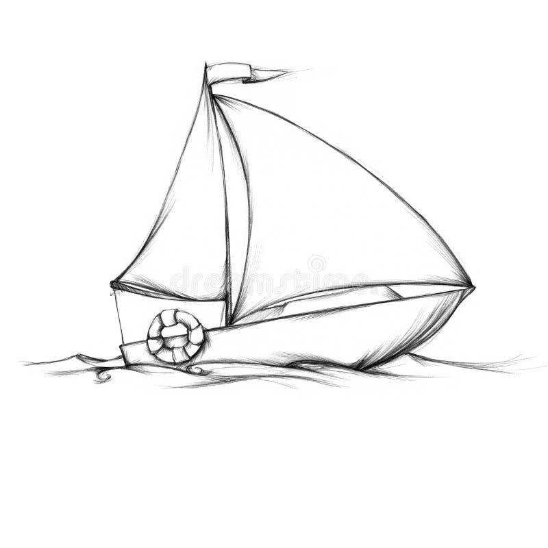 Simple small sailboat stock illustration. Illustration of swimming - 73717809