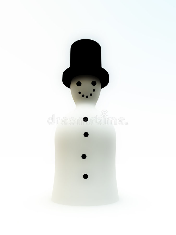 Download Simple Snowman stock illustration. Image of blissful, snow - 7403055