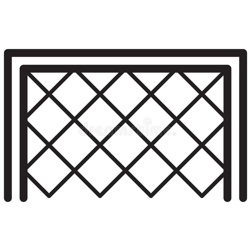 Simple Soccer Goal Related Vector Line Icon. Outline Style. Edit. Able Stroke. 128x128 Pixel Perfect royalty free illustration