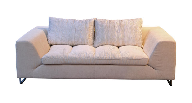 Download Simple sofa stock photo. Image of white, textile, clipping - 23230292