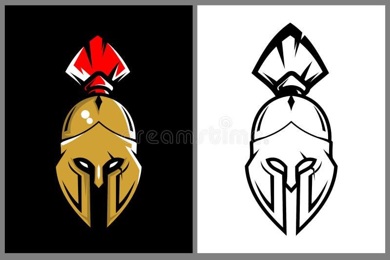 Simple spartan helmet vector template vector illustration