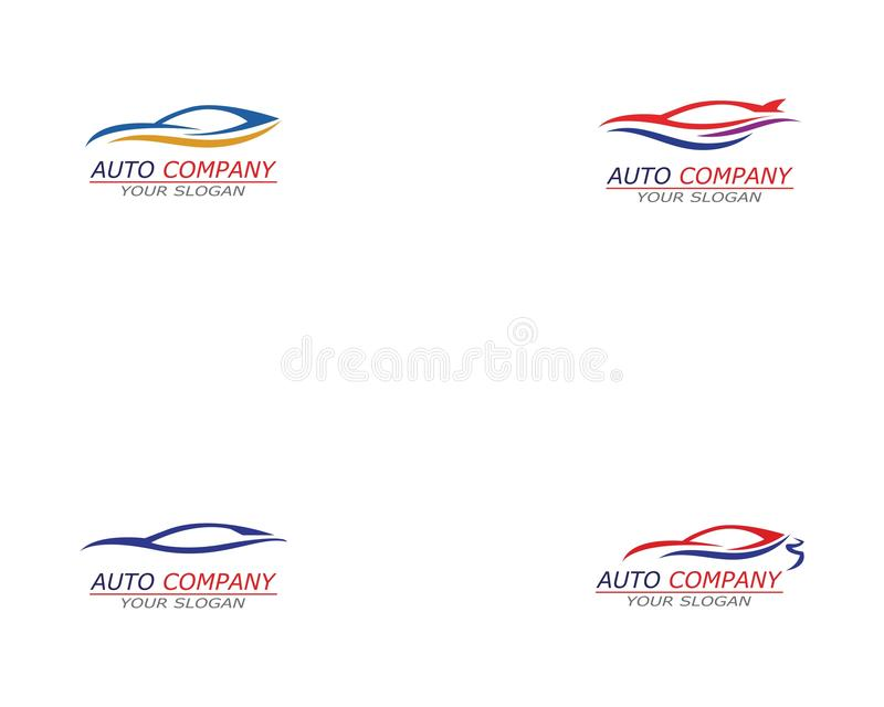 Simple sport car Logo Template vector icon royalty free illustration