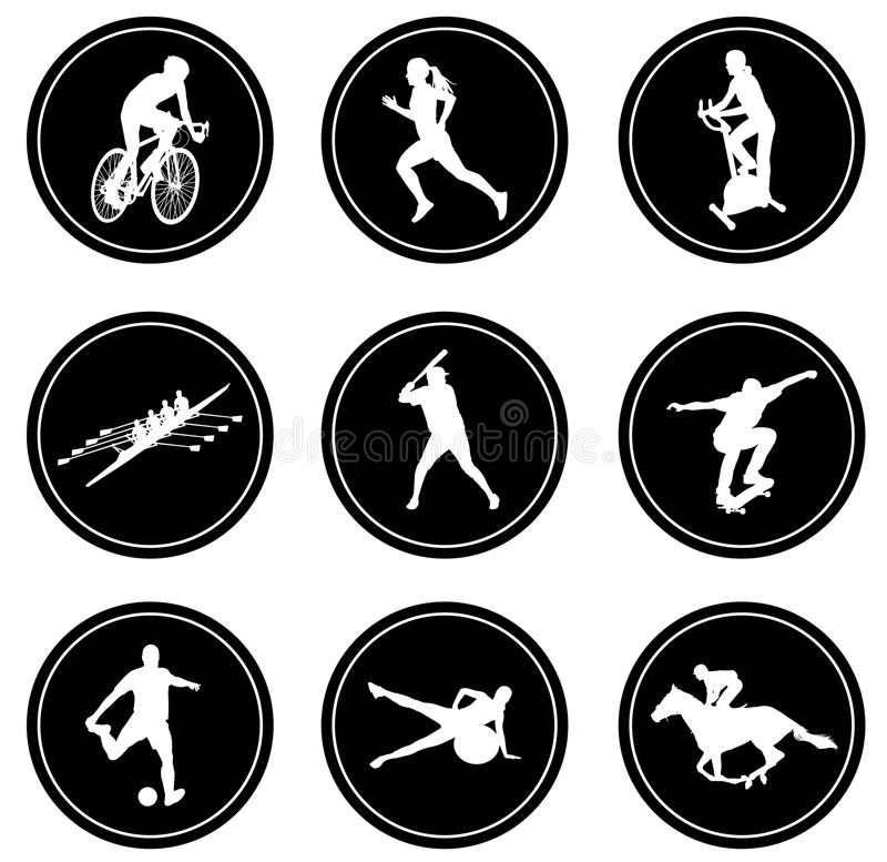 Simple sport icons set. Set of simple sport icons - vector royalty free illustration
