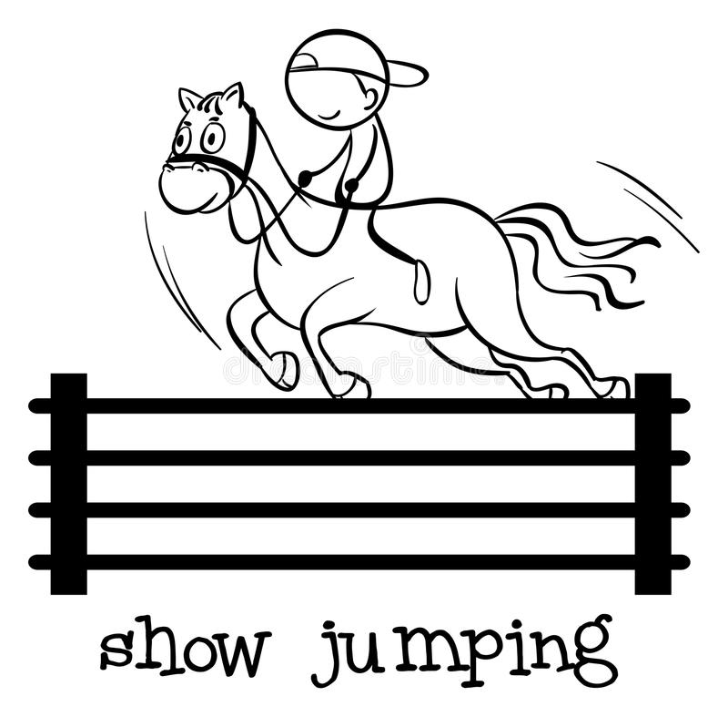 Simple sports figure vector illustration