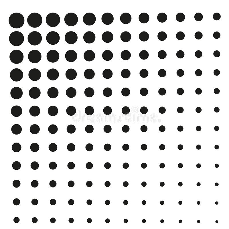 simple square black halftone at white background stock vector rh dreamstime com halftone vector free halftone vector texture