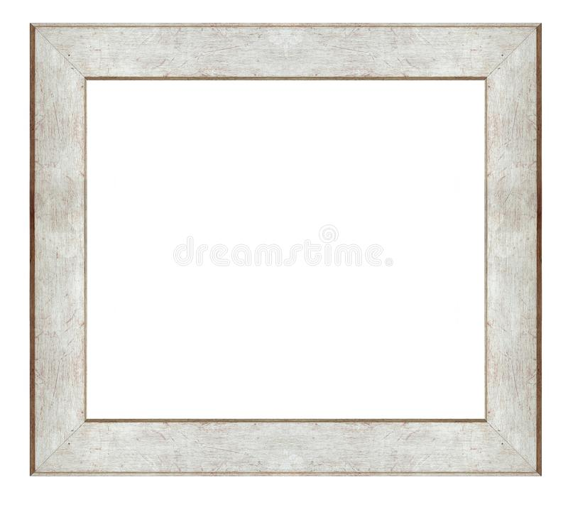Simple square frame. On a white background, isolated stock photography