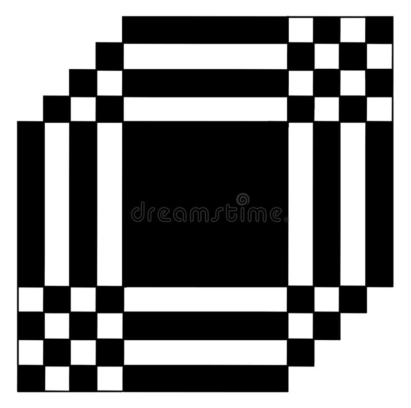 Simple black and white abstract illustration stock images