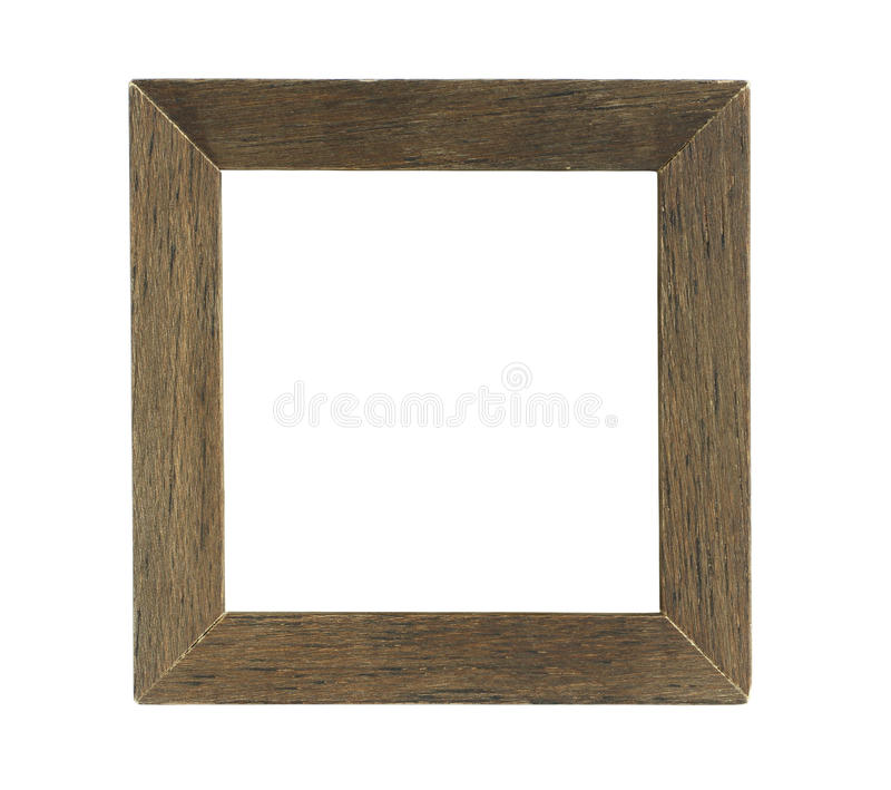 Simple Square Wooden Photo Frame Isolated On White