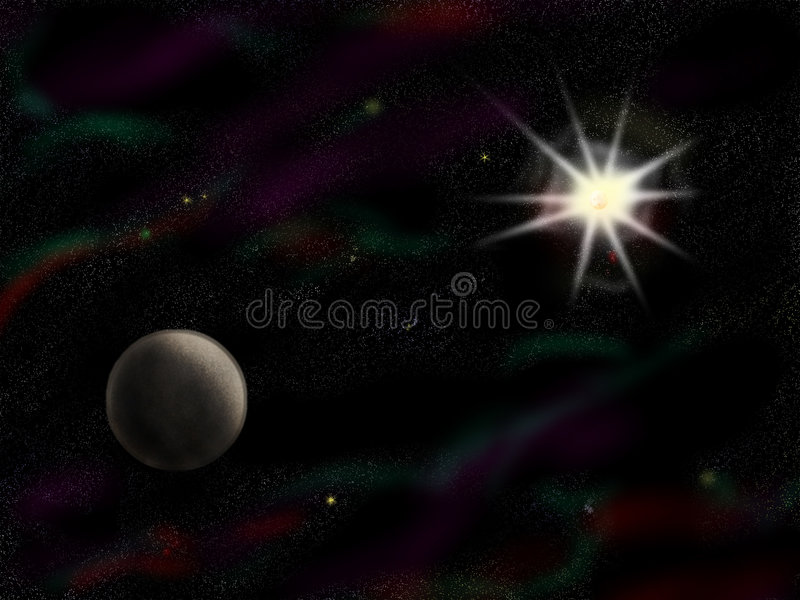 Simple starfield with planet royalty free stock images