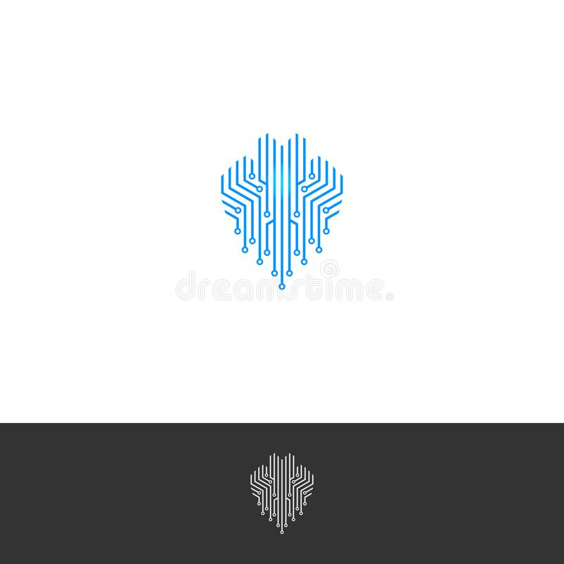 Free Simple Tech Logo For Your Company Stock Images - 164497724