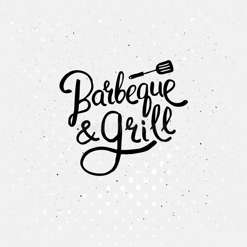Simple Text Design for Barbecue and Grill Concept royalty free illustration