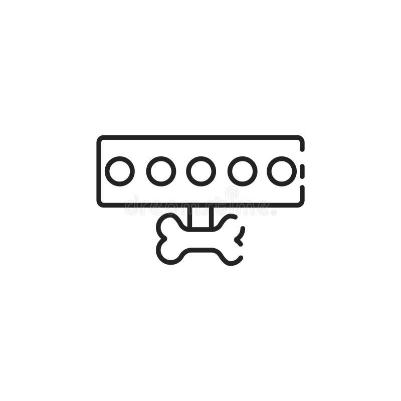 Thin line dog leash icon royalty free illustration