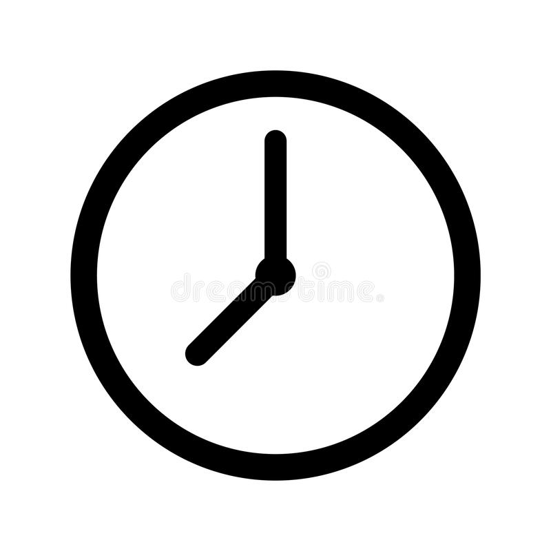 Simple time clock icon vector illustration