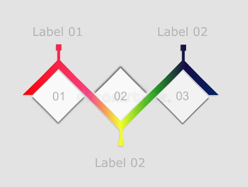 Simple Timeline Info Graphic Design Template Stock Illustration