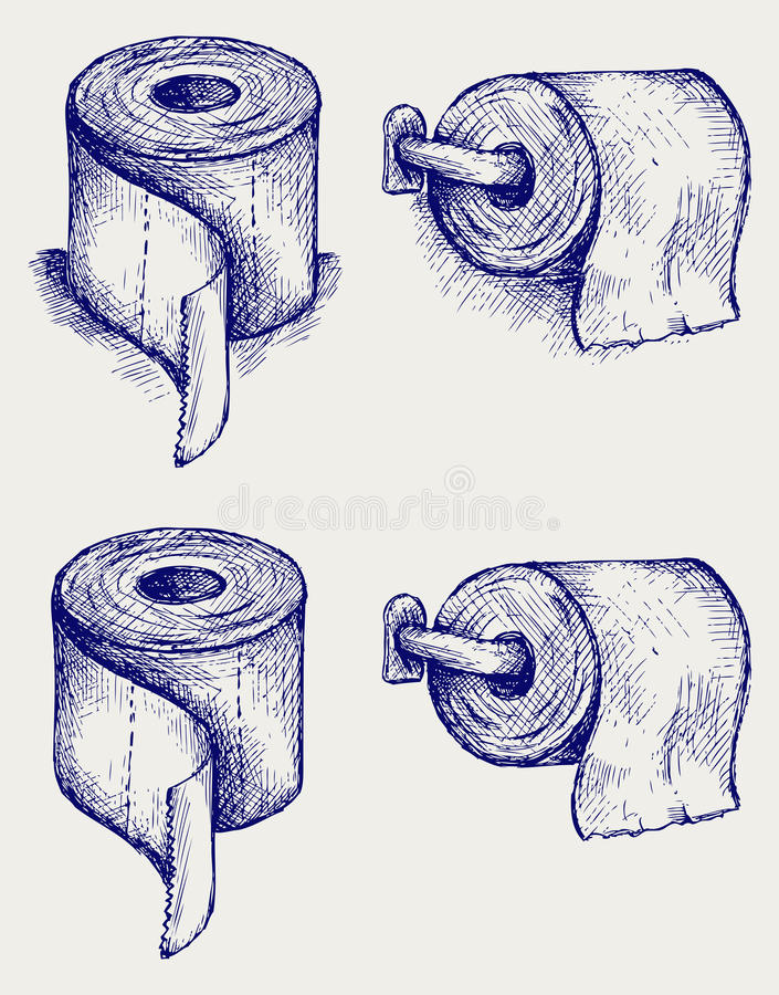 Simple toilet paper stock illustration
