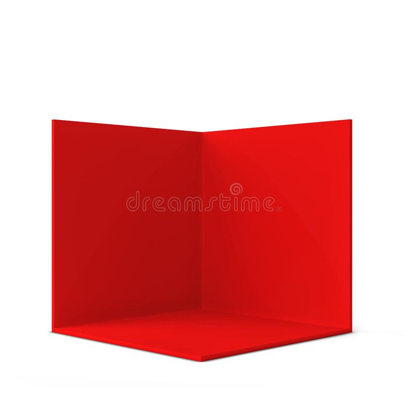 Simple trade show booth. Square corner vector illustration