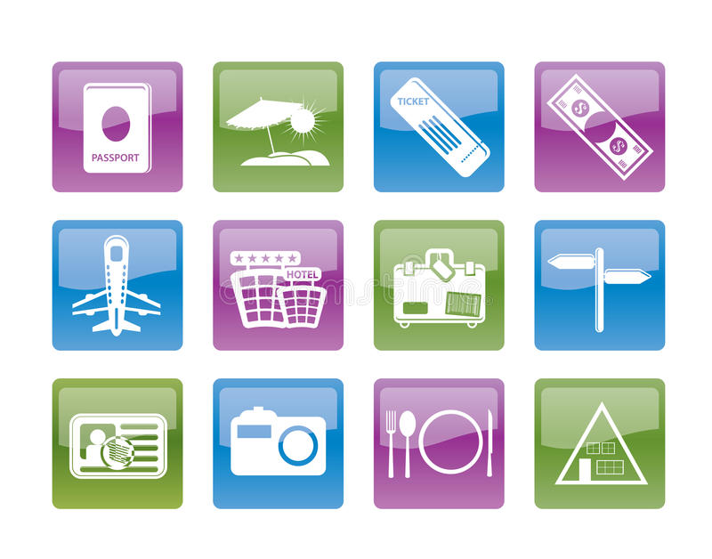 Download Simple Travel And Trip Icons Stock Photo - Image: 18362400