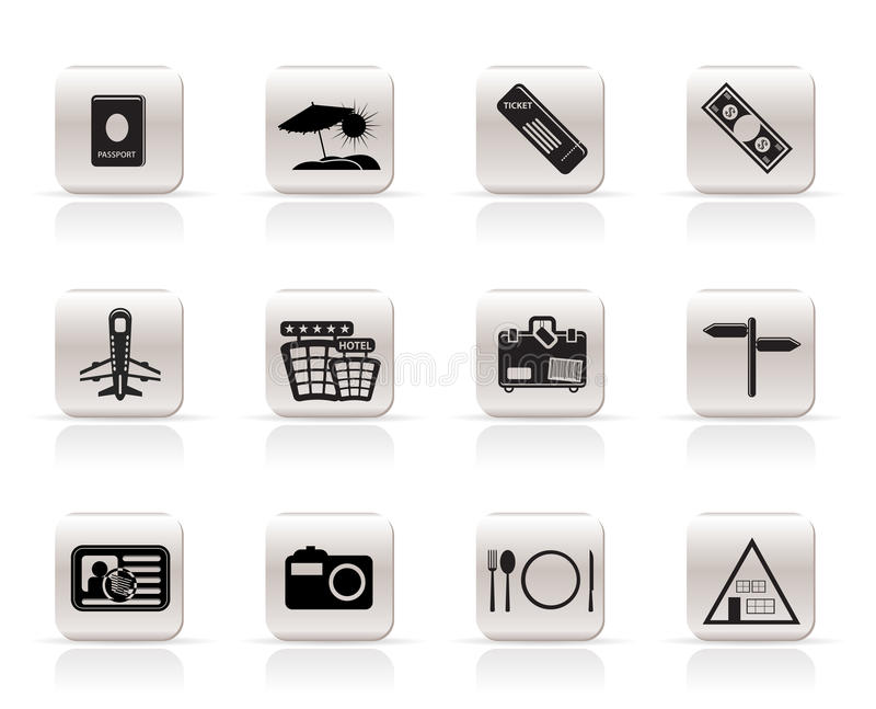 Download Simple Travel And Trip Icons Stock Vector - Image: 9851853