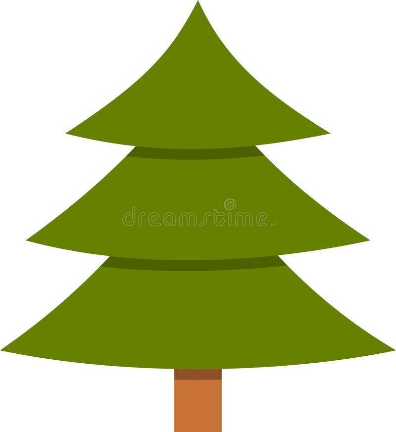 Download Simple Tree Icon Green Color Cartoon Stock Vector