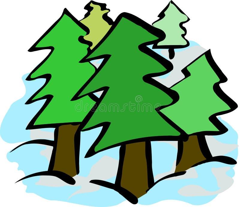 Simple trees stock illustration