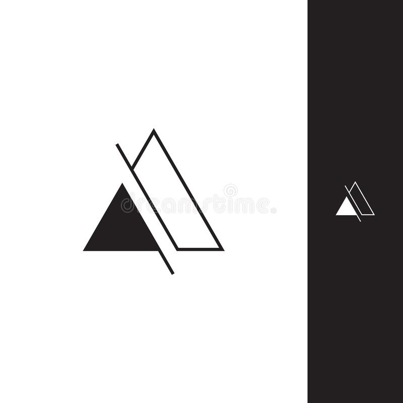Simple triangle logo royalty free illustration