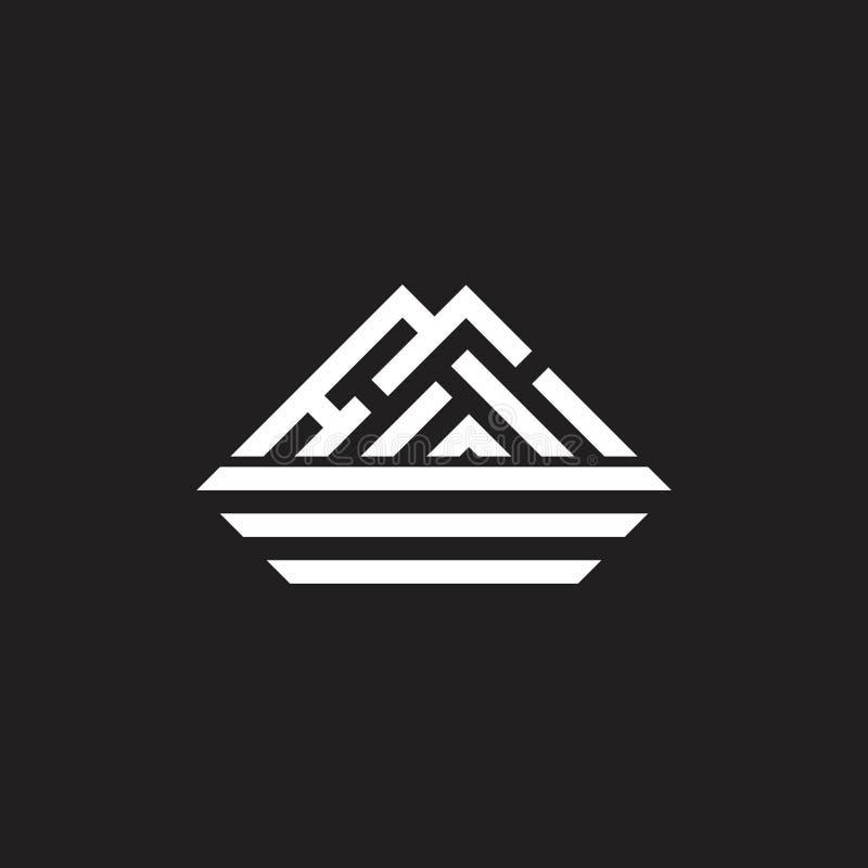 Simple triangle stripes geometric mountain logo vector royalty free illustration