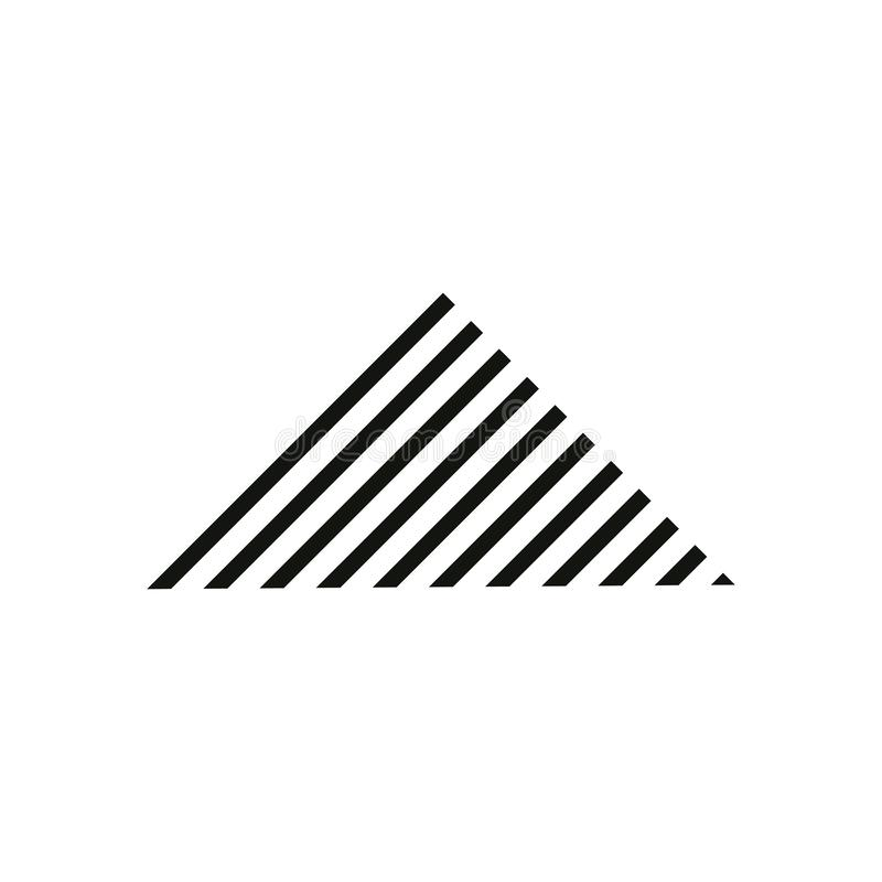 Simple triangle stripes mountain logo vector royalty free illustration