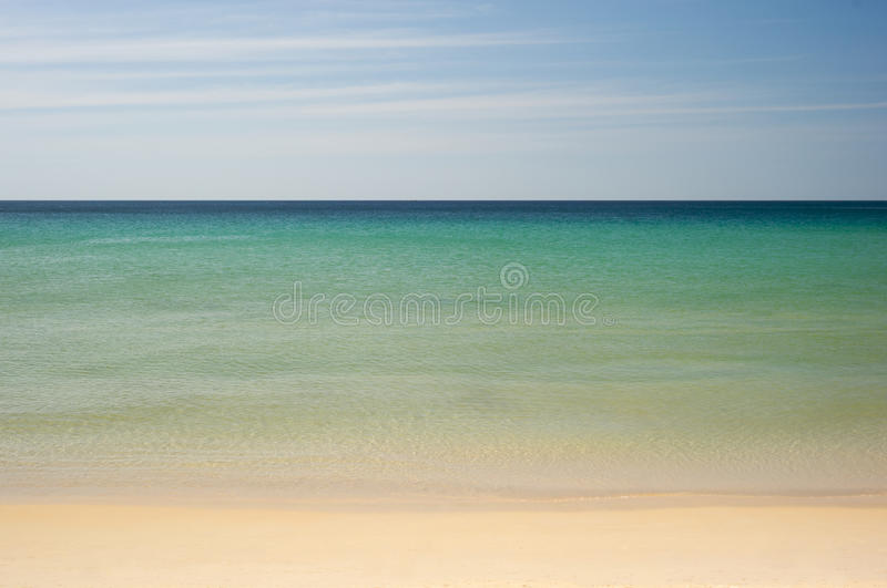 Download Simple Tropical Sea, Sky And Beach Royalty Free Stock Photos - Image: 13269448