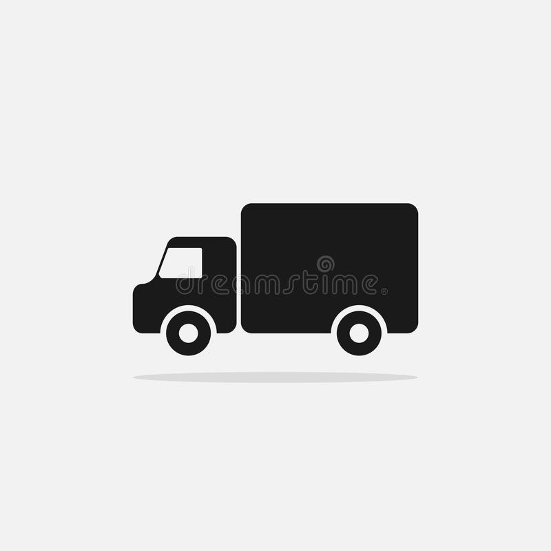 Simple truck icon. Illustration isolated on white background royalty free illustration