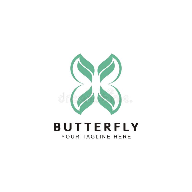 Simple and unique butterfly shaped logo Inspiration royalty free illustration