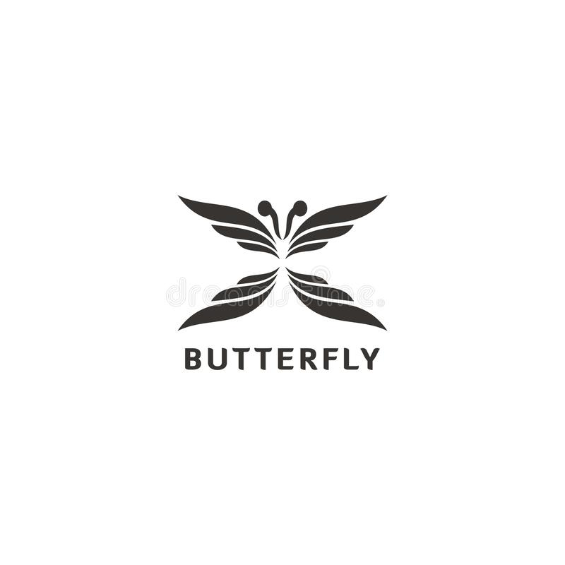 Simple and unique butterfly shaped logo Inspiration stock illustration