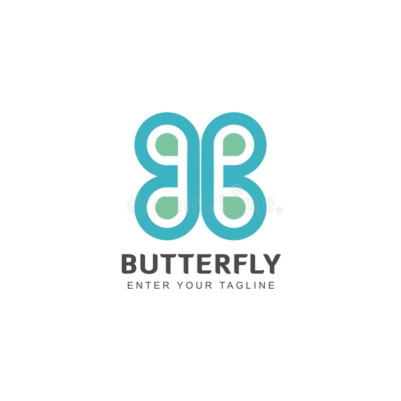 Simple and unique butterfly shaped logo Inspiration vector illustration
