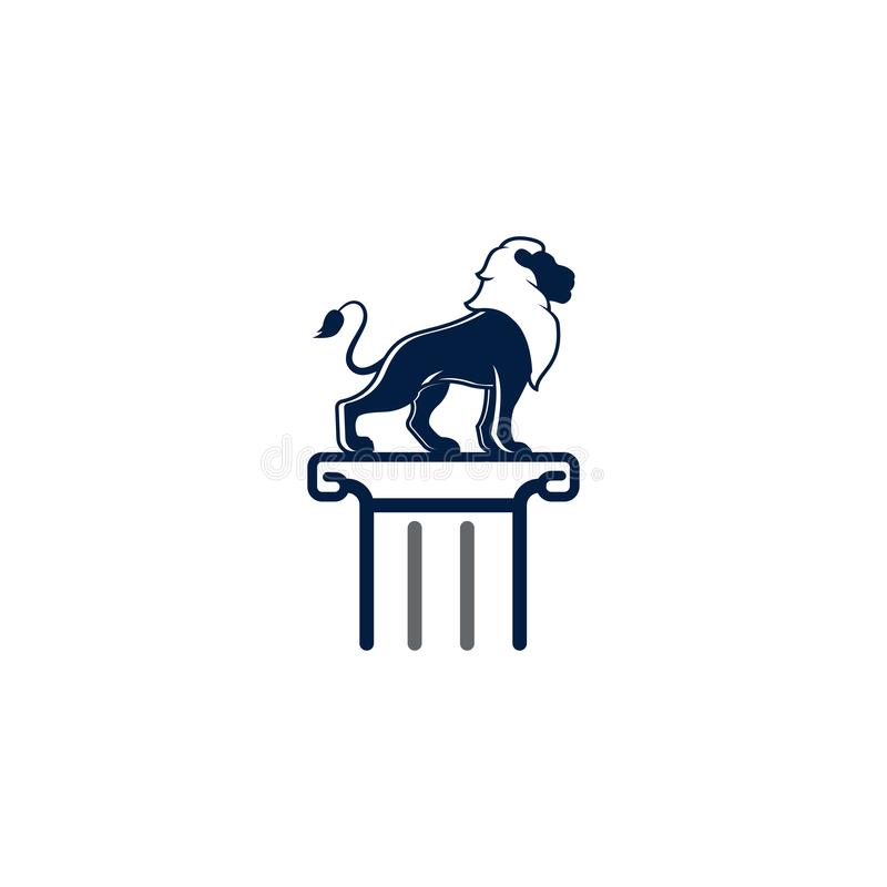 Simple unique lion logo illustration. Lion Vector Logo Design Illustration Template. Eps 10 stock illustration