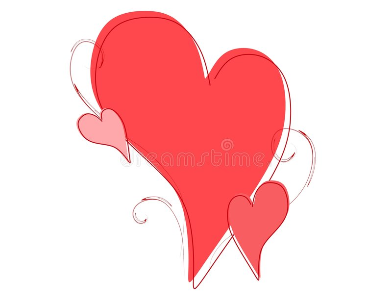 Download Simple Valentine's Day Hearts Sketch Stock Illustration - Image: 3909784