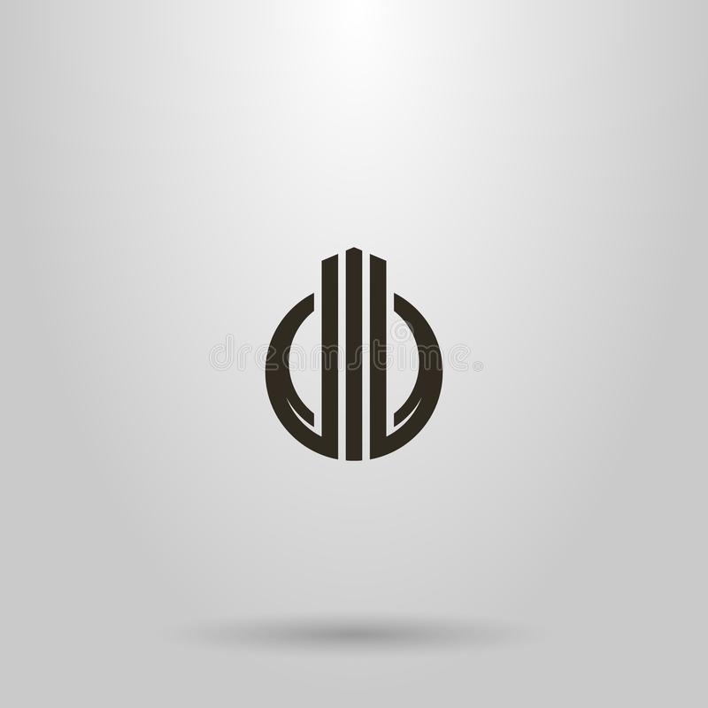 Free Simple Vector Abstract Sign Of Three Pillars Rising Up In A Round Frame Stock Photography - 147977732