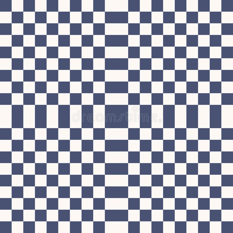 Simple vector blue and white checkered geometric seamless pattern with squares stock illustration