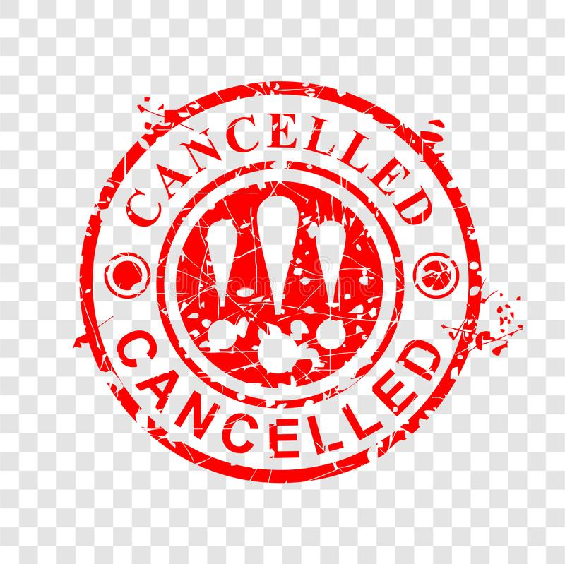 Free Simple Vector Circle Grunge Red Rubber Stamp, Cancelled, At Transparent Effect Background Royalty Free Stock Photos - 164998708