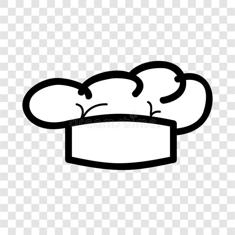 Simple Vector doodle Icon style, chef hat at transparent effect background. Vector doodle Icon style, chef hat at transparent effect background vector illustration