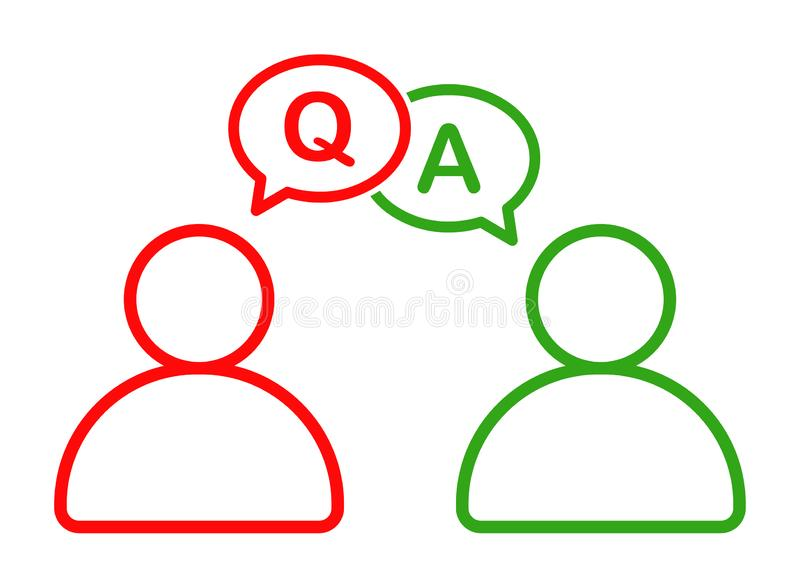 Business man talking with question answer information icon vector illustration