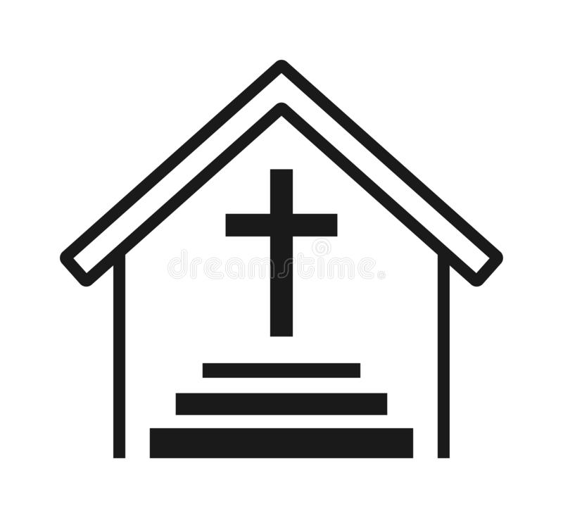 Church cross icon stock illustration