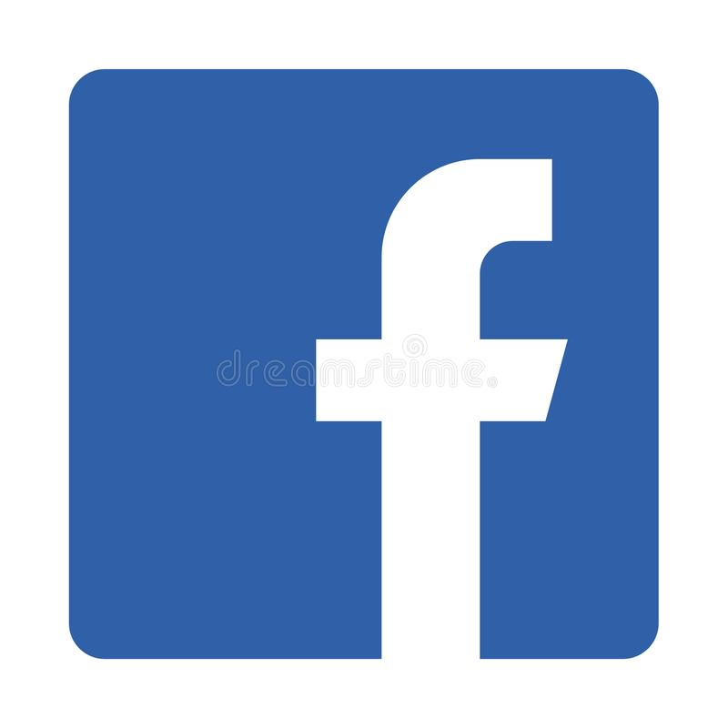 Facebook icon. Simple vector filled flat facebook icon isolated on white background. social media icon stock illustration